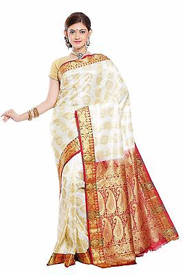 NEW KANCHIPURAM INDIAN Kanjivaram Traditional Saree Bollywood Sari