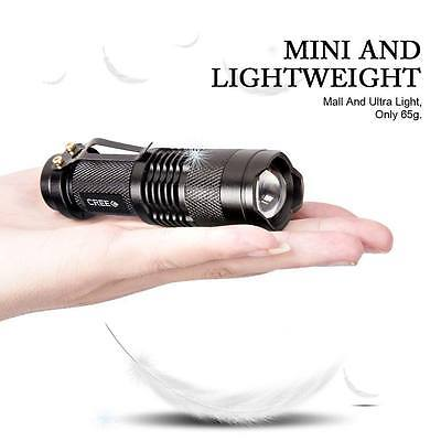 Mini Zoomable Flashlight Torch Light 3 Mode 7W 700Lm CREE Q5 LED Zoom Lamp UK