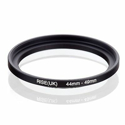 RISE(UK) 44-49 44mm-49mm Matel Step Up Filter Ring Camera Lens Adapter Black