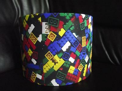"Lego Bricks 10"" Drum Ceiling Lampshade Lightshade"