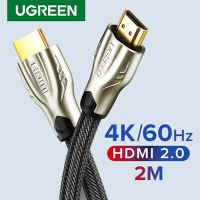 Ugreen Braided Ultra HD HDMI Cable V2.0 High Speed 2160p 4K 3D CHROME HDTV 6FT