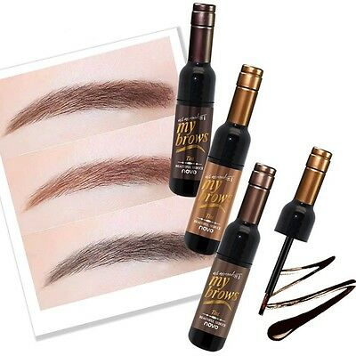 Dye Eyebrow Gel Cosmetic Waterproof Bottle Shape Peel Off Eye Brow Mascara Cream