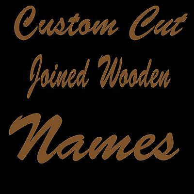 Personalised MDF Joined Names Custom Wooden Letters 8cm 80mm Tall wood Cut Out