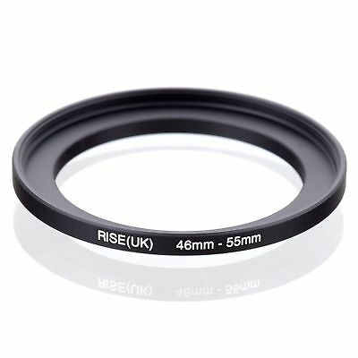 RISE(UK) 46-55mm 46-55 Matel Stepping-Up Ring Filter Camera Adapter Black