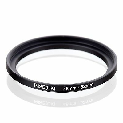 RISE(UK) 48-52mm 48-52 Step-Up Metal Lens Adapter Filter Ring Camera Adapter