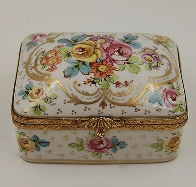 Antique French Sevres Roses Jewelry Box  ...very Unique