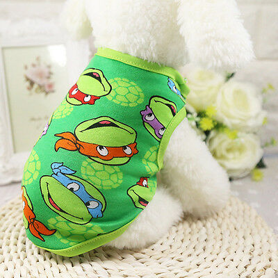Dog Vest Cartoon T-Shirt Pet Clothes For Small Dogs Puppy Coat Costume Apparel