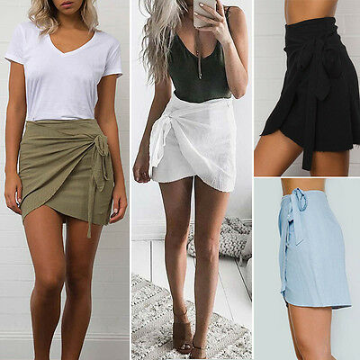 Fashion Women's Ladies Casual High Waist A-Line Bodycon Pencil Mini Short Skirt