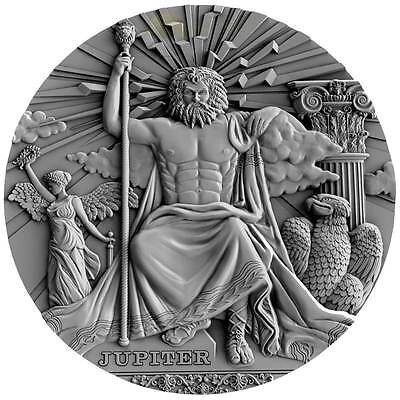 2016 Niue $2 - JUPITER ist issue in Gods Series - 2 oz silver coin High Relief