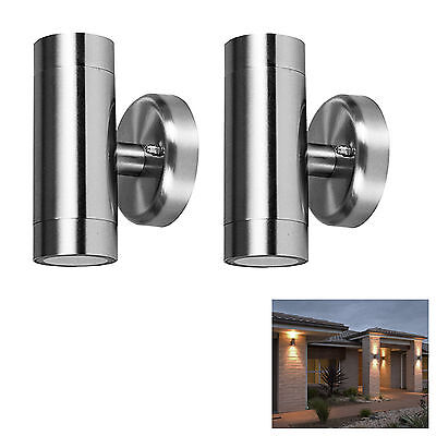 2 x Dual Outdoor Security Porch Outside Wall Door Patio House Garden Twin Light