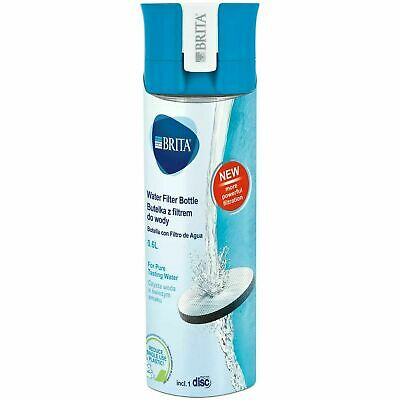 BRITA fill&go Vital Water Filtration Bottle 0.6L with 1 MicroDisc Filter - Blue
