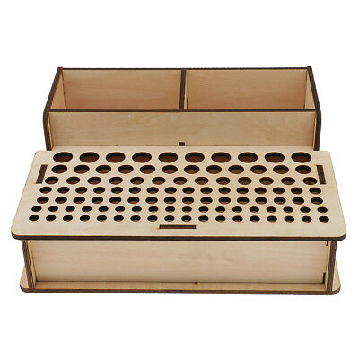 Wooden Leathercraft Tools Rack Stand Leather Stamp Tools Holder Organizer #2