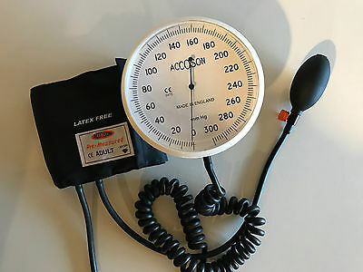 "Accoson Spygmomanometer 6"" Dial Blood Pressure Monitor large Cuff"