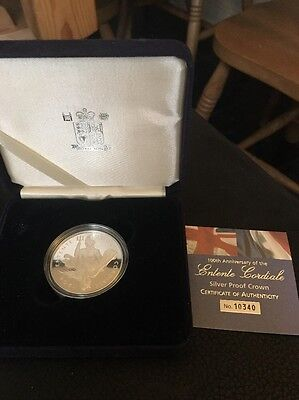 UK Silver Proof Crown Coin -  £5 Five Pounds Cordiale 2004