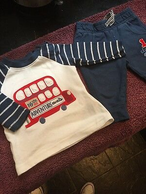 Baby Boys Mothercare Top And Bottoms 3-6 Months