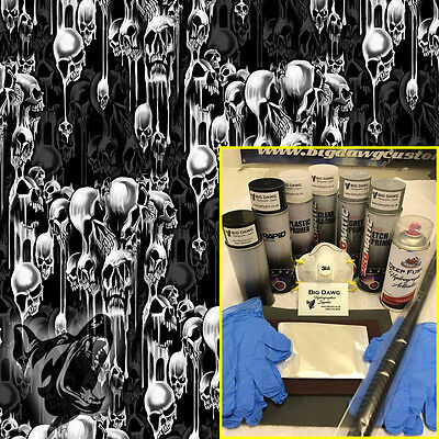 Hydro dipping Hydrographics home starter Dip Kit - Water Skulls (DK-DEE01)