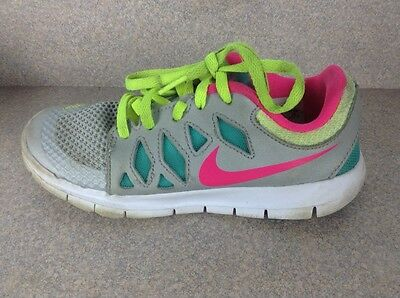 Nike Youth Athletic Shoes Size 1 Gray Pink Blue Kids Girls