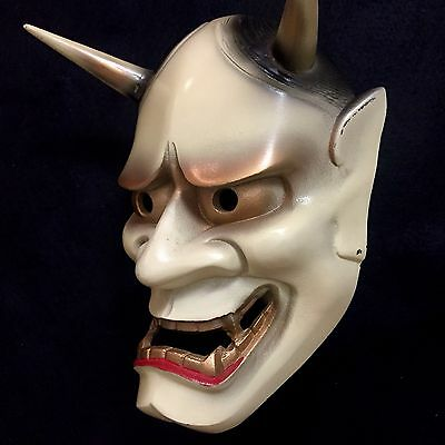 Japanese mask of HANNYA  Noh Kabuki Oni Demon Evil Iron