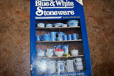 Identification/price Guide Book On Blue An White Stoneware