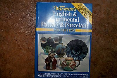Identification/price Guide Book Warman English Continental Pottery An Porcelain
