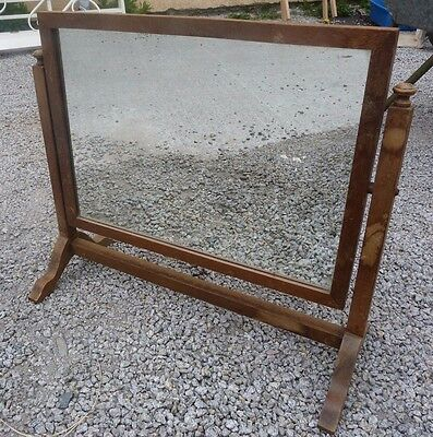 Lovely VINTAGE wooden SWIVEL dressing table mirror
