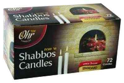 Judaica Jewish Israel Shabbat Shabbos Kosher Wax Candle Candles 3 Hr. - 72 Ct.
