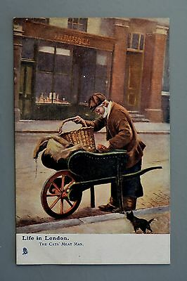 R&L Postcard: Tuck Oilette Life in London 6472, The Cat's Meat Man