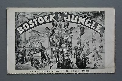 R&L Postcard: Bostock Jungle, Travelling Circus, After G Soury, Lion Tiger Bear