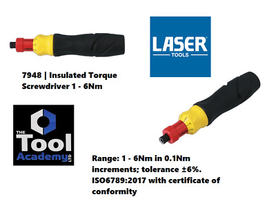 Laser Tools 7948 Insulated Torque Screwdriver 1 - 6Nm