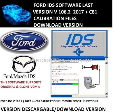 Ford Ids 2017 Version Nueva 104.02 + C81 Calibration Files Download Version