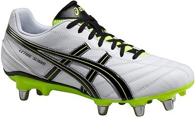 Asics Lethal Scrum Men's Rugby Boot (White/Flash Yellow/Black) **HALF PRICE**