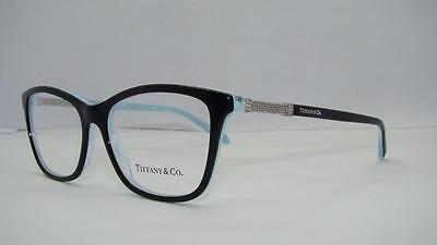 Tiffany & Co 2166 8193 Black / Turquoise Glasses Frames Eyeglasses Size 53
