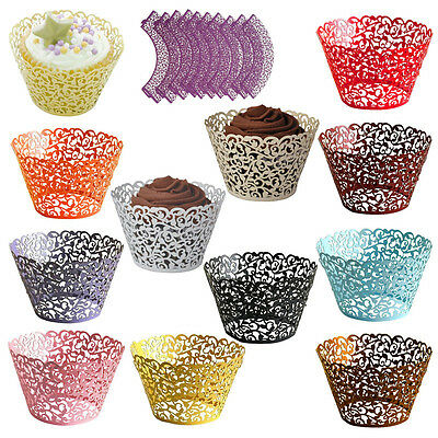 Filigree Vine Cupcake Wrappers Muffin Cake Cases Liner Wedding Party Cake Decor