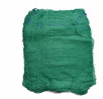 Green Net Sacks Raschel Bags with Drawstring Mesh Vegetables Logs Kindling Wood