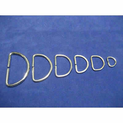 Metal D Rings Buckles for Webbing Strap Tape 10 12 16 20 25 30 35 40 50 mm