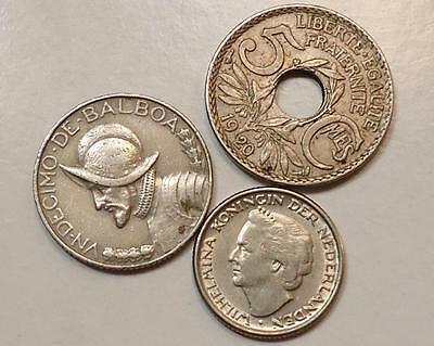 World Coins Lot Of 3  *free Shipping*