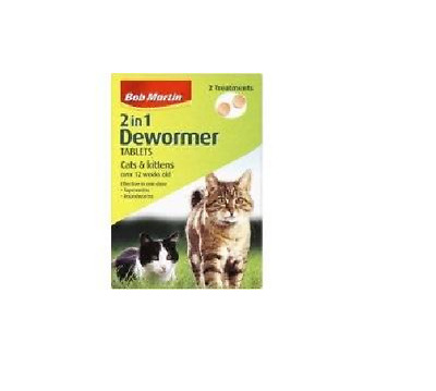 Bob Martin Clear 2in1 Wormer Tablets - Cats & Kittens