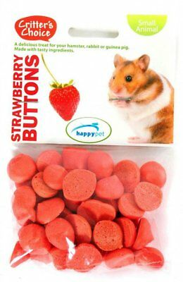 Critter's Choice - Strawberry Buttons 40g