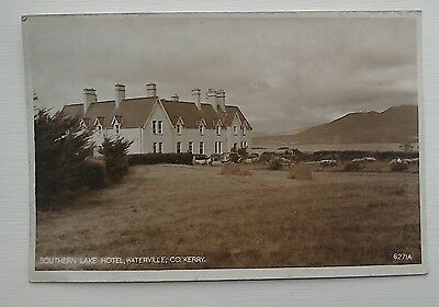 Southern Lake Hotel Waterville Co Kerry old RP postcard