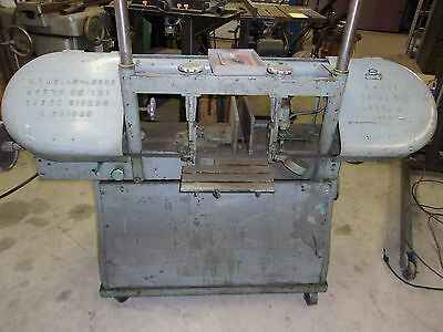 WELLS HORIZONTAL 9 INCH METAL BAND SAW  Model M  MACHINE NO. 4935