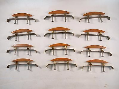 12 Antique Orange Bakelite Waterfall dresser Drawer Pulls With Screws