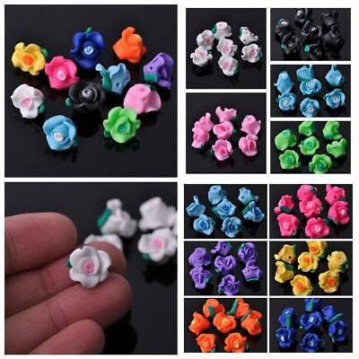 Wholesale 12x9mm Polymer Clay Flowers Spacer Loose Beads DIY Jewelry Making