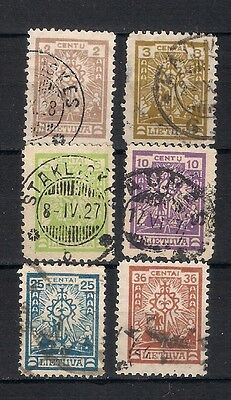 Lithuania  1923 Sc# 196-204  Used   - 4/48