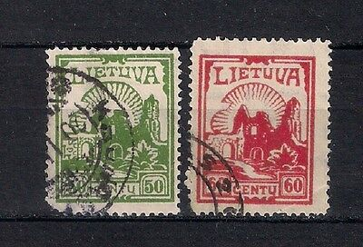 Lithuania 1925  Sc# 208-209  Used   - 4/48