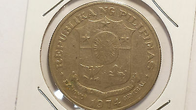 World Coin 1974 Philippines 1 Piso Circulated