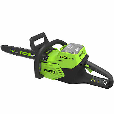 Greenworks GD60CS 60v Cordless Brushless Chainsaw 400mm No Batteries