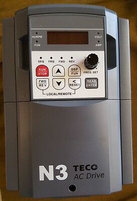 TECO 3HP 3PH DrivePak Variable Frequency Drive N3-403-C *NICE & USED*