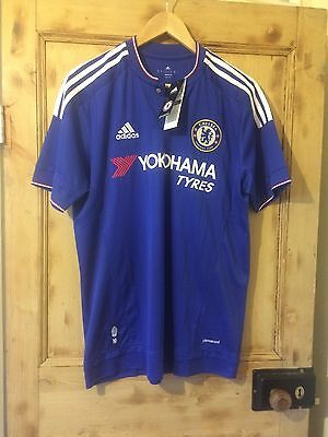 Chelsea Football Shirt Adidas In Royal Blue 2015-2016 Size Medium Brand New