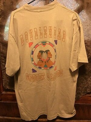 DOUBLEHEAD RESORT & LODGE Alabama VTG  ~ Men's XL ~ Indian Logo 2 Sided T Shirt