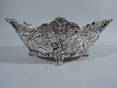 Tiffany Bowl - 4045 - Antique Floral Repousse - American Sterling Silver